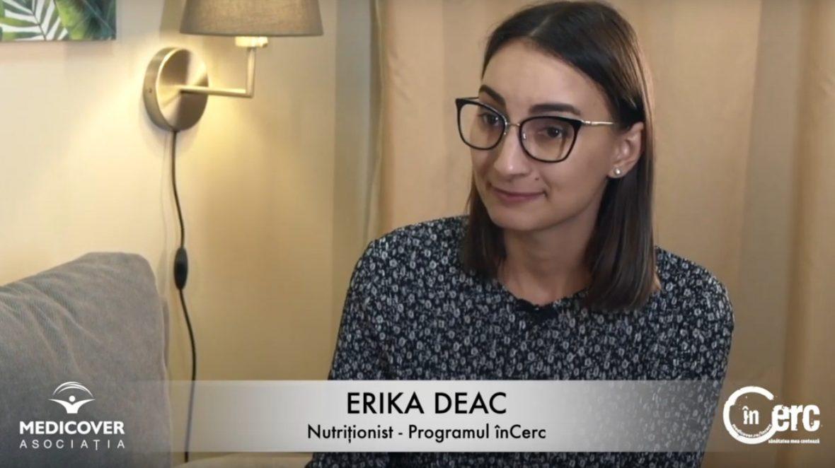 """Erika Deac, nutriționist """"înCerc"""""""